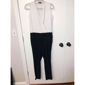 Theory Black & White Jumpsuit